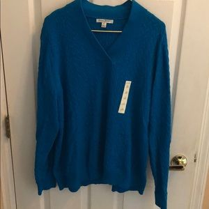 STUDIO WORKS NWOT Blue sweater size 3x long sleeve